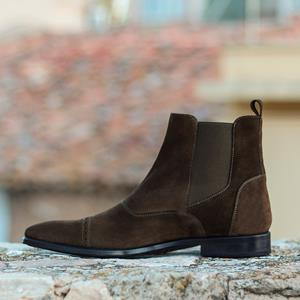 Chocolate Suede Chelsea Boot