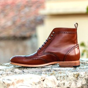 Dark Brown Brogue Boot