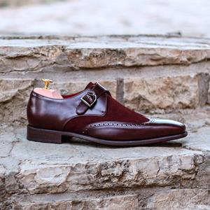Burgundy Two-Tone Single Monk