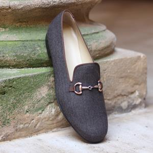 Grey Flannel Wellington Slipper