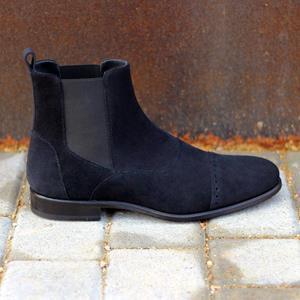Navy Suede Chelsea Boot