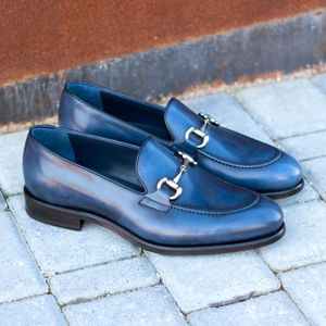 Blue Burnished Loafer
