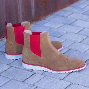 Taupe Suede Chelsea Boot