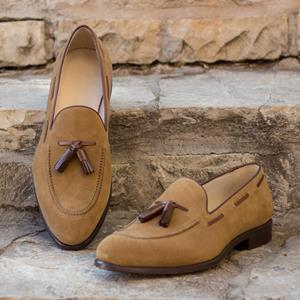 Taupe Suede Loafer
