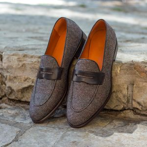 Brown Tweed Loafer