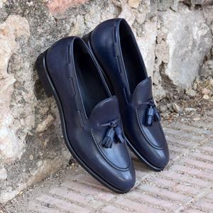 Blue Calf Tassel Loafer