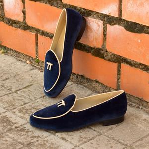 Blue Velvet Belgian Slipper