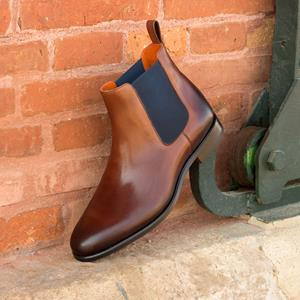 Med Brown Burnished Chelsea Boot