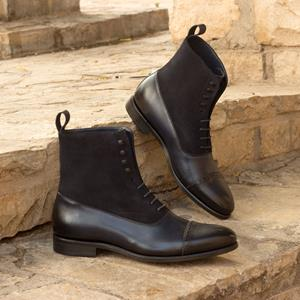 Black Burnished Two-Tone Balmoral