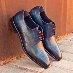Denim Blue Patina Derby