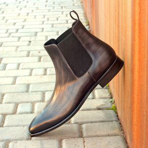 Grey Patina Chelsea Boot