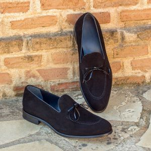 Black Suede Tassel Loafer