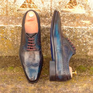 Blue & Grey Patina Wingtip