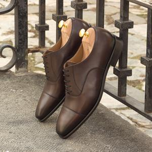 Dark Brown Burnished Captoe Oxford