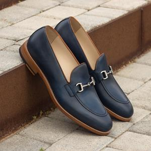 Blue Calf Loafer