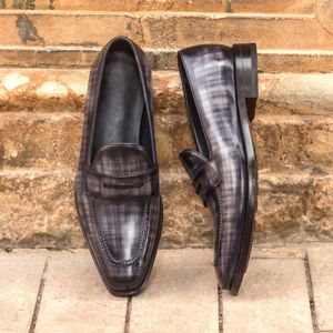 Grey Patina Loafer