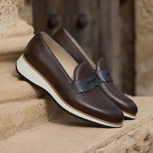 Brown Two-Tone Loafer