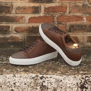 Brown Tweed Two-Tone Trainer