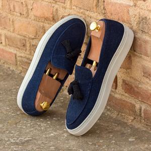 Blue Suede Belgian Sneaker