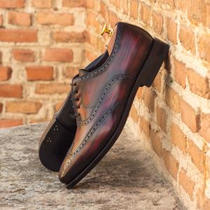 Burgundy Patina Full Brogue