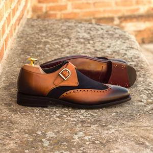 Brown Two-Tone Single Monk