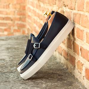 Blue Calf Double Monk Sneaker