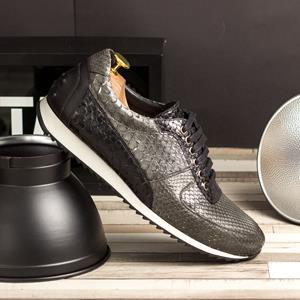 Grey Python Corsini Sneaker