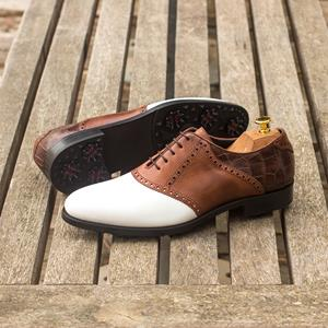 Brown & White Oxford (Golf)